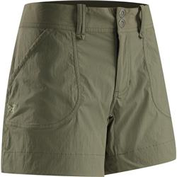 "Arcteryx Parapet Shorts, 5"" Inseam - Womens (Prior Season)-Cargo Green"