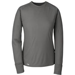 Outdoor Research Echo LS Tee - Womens-Pewter / Typhoon