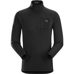 Arcteryx Rho AR Zip Neck - Mens-Black