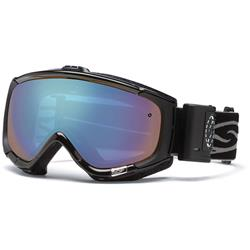 Smith Optics Phenom Turbo Fan Goggles, Black Frame, Blue Sensor Lens-Not Applicable