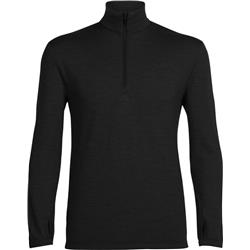 Icebreaker Original LS Half Zip- Mens-Black