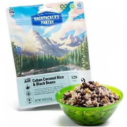 Backpackers Pantry Cuban Coconut Black Beans & Rice - 2 Serving (Gluten & Wheat Free)-Not Applicable