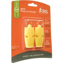 Adventure Medical  SOL Rescue Howler Whistle (2 pack)-Not Applicable