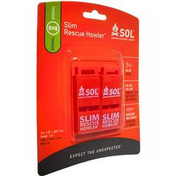 Adventure Medical  SOL Slim Rescue Howler Whistle (2 pack)-Not Applicable