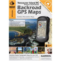 Backroad Mapbooks Vancouver Island British Columbia Gps Maps (SD)-Not Applicable