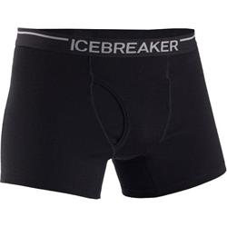Icebreaker Oasis Boxers with Fly - Mens-Black