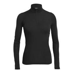 Icebreaker Everyday LS Half Zip - Womens-Black
