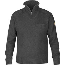 Fjallraven Koster Sweater - Mens-Dark Grey