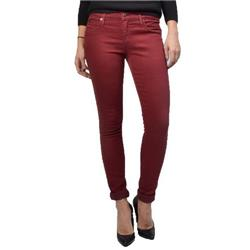 Yoga Jeans Mid Rise Skinny - Womens-Cranberry