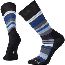 Smartwool Saturnsphere Socks - Mens-Charcoal Heather / Blue Ice