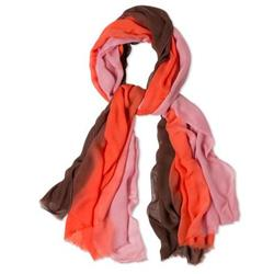 Prana Ombre Scarf - Womens-Neon Orange
