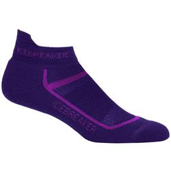 Icebreaker Multisport Micro Socks - Light Cushion - Womens-Aura / Vivid
