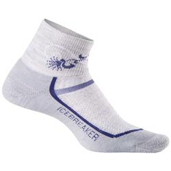 Icebreaker Multisport Mini Socks - Light Cushion - Womens-Blizzard / Horizon