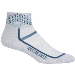 Icebreaker Multisport Mini Socks - Ultralight Cushion - Womens-Blizzard Heather / Prussian Blue / Alpine Argyle