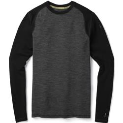 Smartwool Merino 250 Baselayer Pattern Crew - Mens-Black / Black