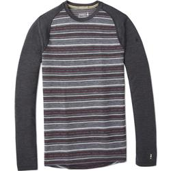 Smartwool Merino 250 Baselayer Pattern Crew - Mens-Charcoal Margarita