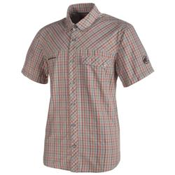 Mammut Asko SS Shirt - Mens-Granite Melange / Dark Orange