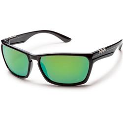 Suncloud Cutout, Black Frame, Polarized Green Mirror Lens-Not Applicable