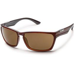Suncloud Cutout, Burnished Brown Frame, Polarized Brown Lens-Not Applicable