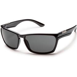 Suncloud Cutout, Black Frame, Polarized Gray Lens-Not Applicable
