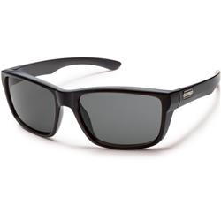 Suncloud Mayor, Matte Black Frame, Polarized Gray Lens-Not Applicable