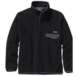 Patagonia Synch Snap-T Pullover - Mens-Black w/Forge Grey