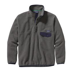 Patagonia Synch Snap-T Pullover - Mens-Nickel w/Navy Blue