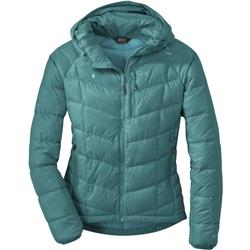 Outdoor Research Sonata Hooded Down Jacket - Womens-Atlantis / Sea