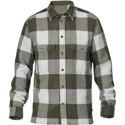 Fjallraven Canada LS Shirt - Mens-Deep Forest