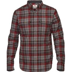 Fjallraven Singi Heavy Flannel Shirt - Mens-Dark Grey