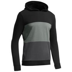 Icebreaker Escape LS Hood - 200 RealFLEECE - Mens-Black / Metal / Monsoon