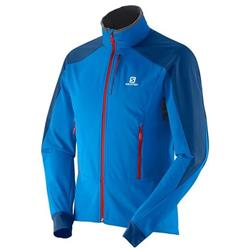 Salomon Momentum Softshell Jacket - Union Blue - Mens-Not Applicable