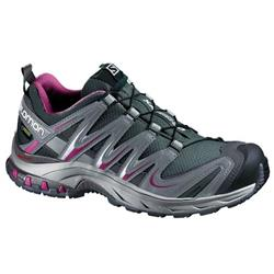 Salomon XA Pro 3D GTX - Grey Denim / Pearl Grey / Mystic Purple - Womens-Not Applicable