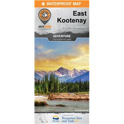 Backroad Mapbooks Outdoor Recreation Map - East Kootenay BC - 1st Edition-Not Applicable