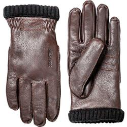 Hestra Deerskin Primaloft Ribbed - Mens-Dark Brown