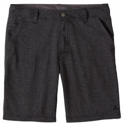 "Prana Furrow Shorts, 8"" Inseam - Mens-Black Herringbone"