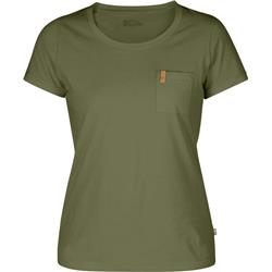 Fjallraven Ovik T-Shirt - Womens-Green