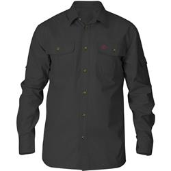 Fjallraven Singi Trekking LS Shirt - Mens-Dark Grey
