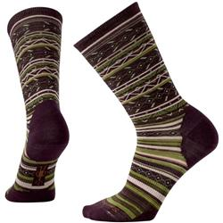 Smartwool Ethno Graphic Crew Socks - Womens-Bordeaux Heather