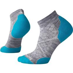 Smartwool PhD Run Light Elite Low Cut Socks - Womens-Light Gray / Capri