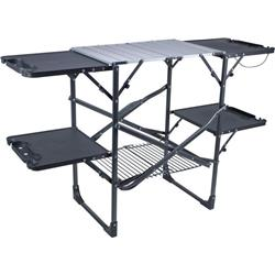 GCI Outdoor Slim Fold One Piece Cook Station - Black-Not Applicable