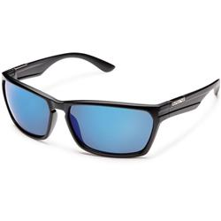 Suncloud Cutout, Matte Black Frame, Polarized Blue Mirror Lens-Not Applicable