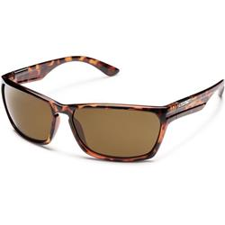 Suncloud Cutout, Tortoise Frame, Polarized Brown Lens-Not Applicable