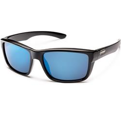 Suncloud Mayor, Black Frame, Polarized Blue Mirror Lens-Not Applicable