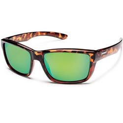 Suncloud Mayor, Tortoise Frame, Polarized Green Mirror Lens-Not Applicable
