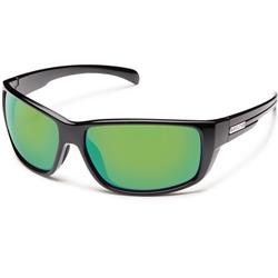 Suncloud Milestone, Black Frame, Polarized Green Mirror Lens-Not Applicable
