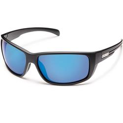 Suncloud Milestone, Matte Black Frame, Polarized Blue Mirror Lens-Not Applicable