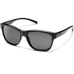 Suncloud Pageant, Black Frame, Polarized Gray Lens-Not Applicable