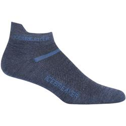 Icebreaker Multisport Micro Socks - Ultralight Cushion - Mens-Fathom Heather / Sea Blue