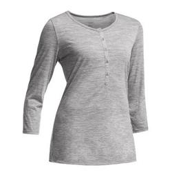 Icebreaker Tech Lite 3/4 Henley - Womens-Metro Heather